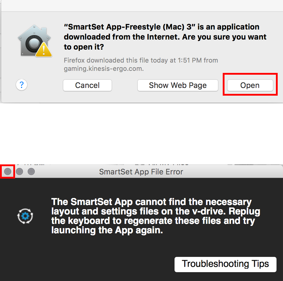Freestyle Edge Support – Kinesis Gaming Step 3) MAC USERS ONLY- Double-click the App to perform a quick  verification. Click the Open button and then close the App. ...